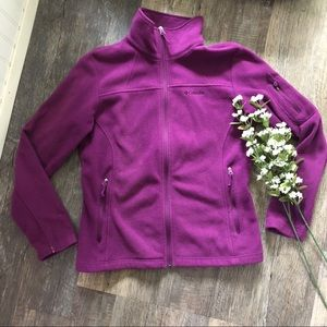 Columbia | Magenta Purple Full Zip Jacket